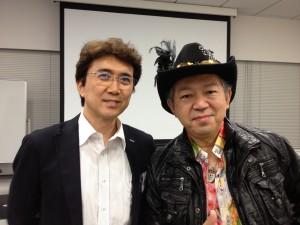 山崎とクリス岡崎氏in  ラーニングエッジ